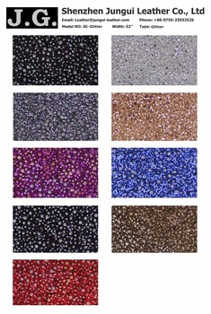 Wholesale artificial glitter fabric leather for bags making