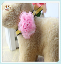 Luxury princess dog neck lace flower nylon webbing pet dog cat collar by pet supplies/dog collar