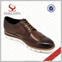 Italian style head layer cowhide brogue Carved eva shoes , wholesale shoe