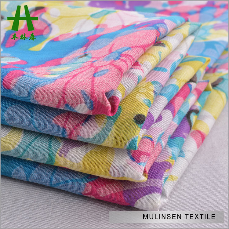 Mulinsen Textile Woven 60s Voile Flower Printed Technical Cotton Fabrics
