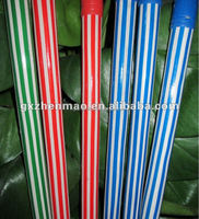 PVC coated wooden cleaning broom stick