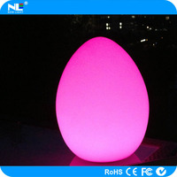 magic light LED clear and shine egg shaped ball for party and night club decoration