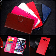 PU Leather Cases Wallet Cases For ONE PLUS THREE Fingerprint Flip Cover Holder Card Slot Stand Phone Bags