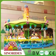Outdoor amusement equipment Christmas musical carousel for sale