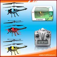 Radio-controlled 4.5CH red dragonfly plastic helicopter toy small in long distance