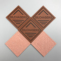 Custom fake labels faux leather labels