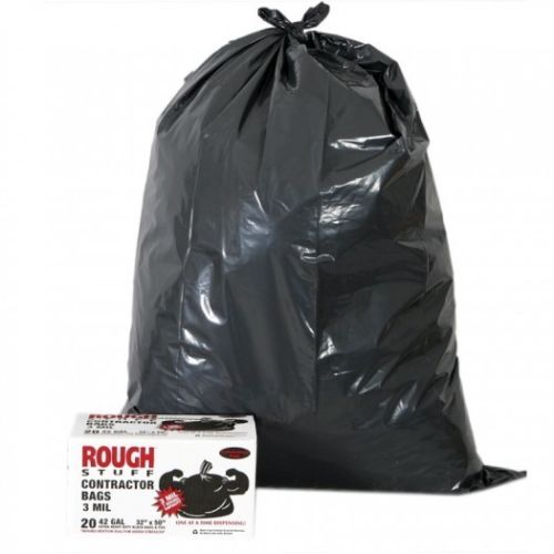 Best selling Ldpe 3mil 60gallon heavy duty plastic rubble black garbage bag trash waste dustbin bags contractor bags