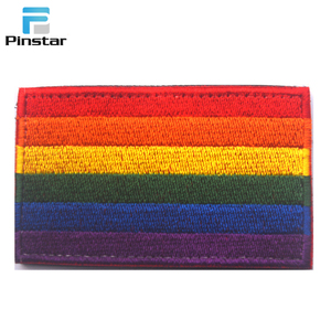 LGBT Applique Embroidered Patch Gay Pride Lesbian Rainbow Flag Embroidered Patches