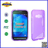 S line TPU case for samsung galaxy Xcover 3, Solid TPU Gel Case for samsung xcover 3