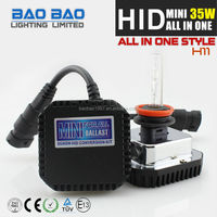 Factory supply! car HID kit DC 12V/35W newest and popular H1 H3 all in one hid kit HID MINI All in one hid h7