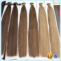 Long lasting fashion style real virgin hair from one donor top grade best selling full ends nano tip hair in UK