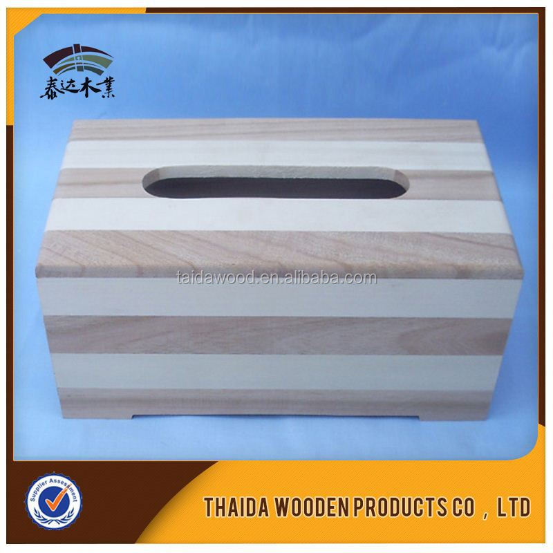 New Design Wood Tissue Box Holder Made In China
