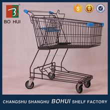 Collapsible foldable wheeled trolley shopping cart