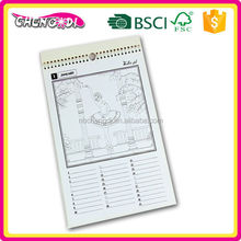 Top Selling cute wood free paper desk calendar for promotion