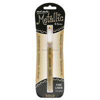Mont Marte Metallic Marker Fine Point - Gold