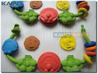 Smooth surface colorful toy rubber prototype