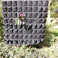 Hanging Garden black planter grow bag, Garden Grow Planting Bag Pockets Vertical Garden Felt Planters Grow Bags