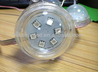 42mm diamond cover milk white 24v ip66 5050 led pixel point light