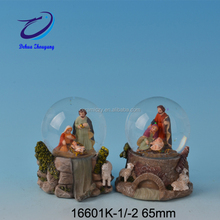 Christmas Nativity Three Kings Rotating Music Water Globe Glitterdome