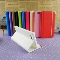 Custom color phone wallet case for iphone 4 4s 5 5s 6 6 plus stand wallet cover for apple iphones wholesale