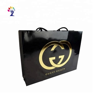 Hot selling custom logo printing Recyclable luxury paper shopping bag