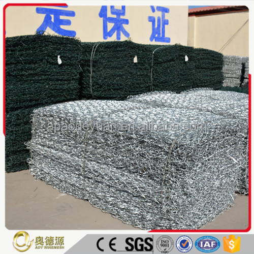Green PVC coated/galvanized hexagonal chicken iron wire mesh/gabion wire mesh
