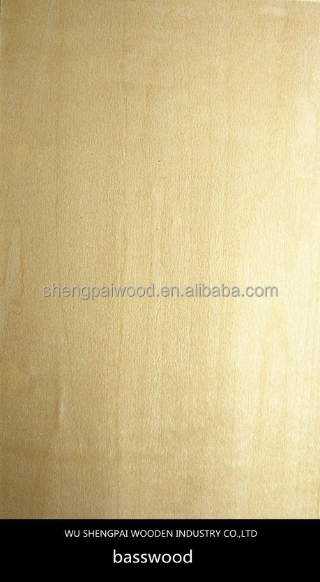 china natural basswood wood veneer sheets for interior doors furniture hotel decoration