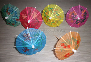 Luau Tropical Parasol Umbrella Hawaiian Party Umbrella picks