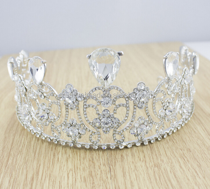 Wholesale Wedding Rhinestone Headpiece And Tiara For Wedding Rhinestone Crown