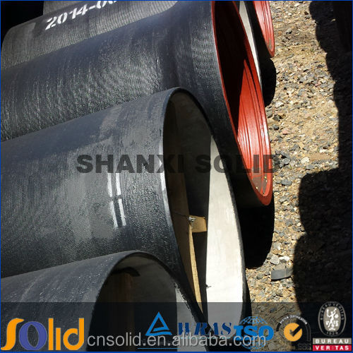 Large diameter ductile cast iron pipe class k9 DN80-DN1200