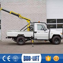 electric hoist hydraulic pump pickup crane for sale
