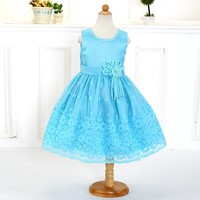 Most Popular product party wear sleeveless flower baby girl dress for Birthday LM130