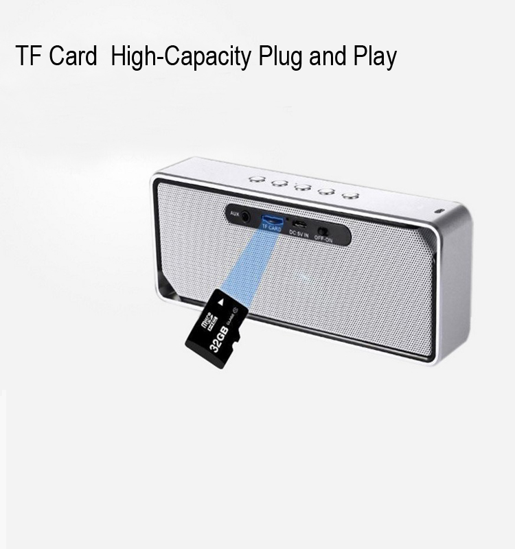 TF Card High-Capacity Plug and Play Bluetooth Wireless Speakers