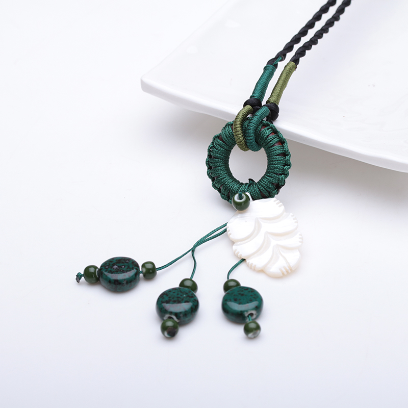New arrive fashion made in China latest design necklace ceramic beads necklace