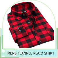 New Design Casual Grid long sleeve mens flannel plaid shirts Brand Formal Business Fashion Dress Warm Shirts