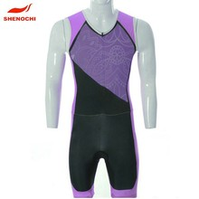 2015 Full Printing Women Lycra Compression Triathlon Suits
