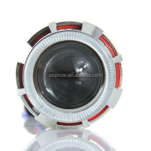 Car/Moto Bi-xenon projector lens with double angel eye yellow red green blue white pink