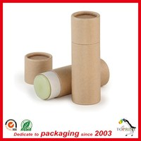 Recycled eco lip balm tube 15g lip balm container push up style