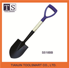 whole-body metal round point garden shovel with Y type grip
