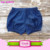 2016 Summer boutique shorts baby girls children jeans fashion denim navy blue wholesale waist elastic cheap Bulk Denim shorts