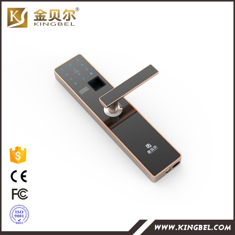 Stainless steel door lock fingerprint scanner door lock