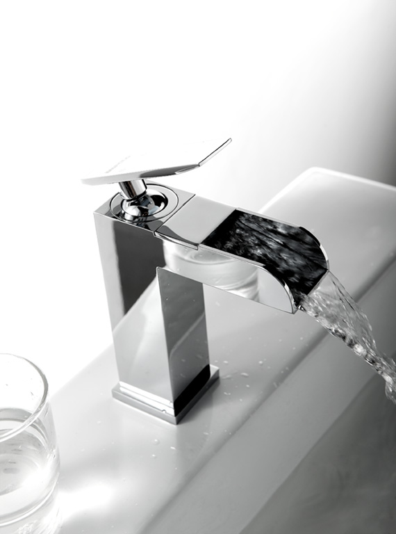 Unique Single Lever Faucets For Bathroom Sinks Water Basin Faucet Waterfall Spout 81 1101
