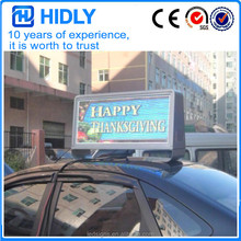 Promotion price Outdoor TAXI ROOF P5 Full Color 3G WIFI LED Sign/ Car Top Display/Taxi Light Box for sale