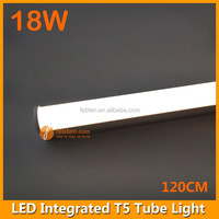 Factory direct sale 18w 4ft t5 integrated plastic led components tube with diffused pc cover