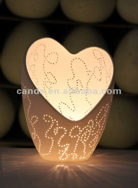 Unique Heart Shape Worm Color Romantic Decorative Night Lamp Holiday Gift