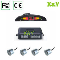 LED car parking sensor system with 4pcs radar detecter and in-built buzzer best for reversing warning and assistance
