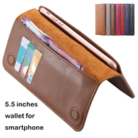 7 colors Floveme smartphone universal leather phone wallet case