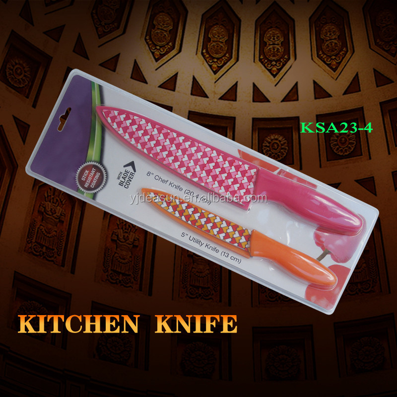 KSA39-2 NEW DESIGNED kitchen knife + BLADE COVER