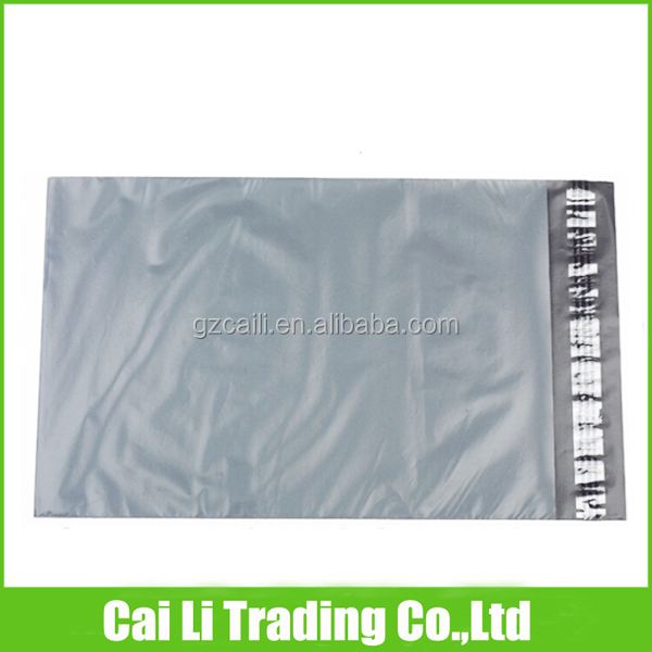 self-adhesive pe material grey mailing bag