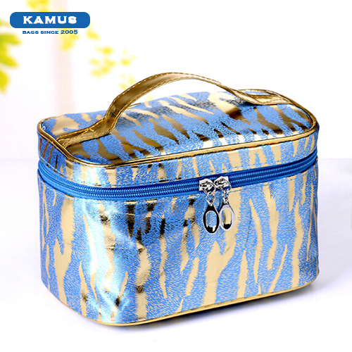 Kamus brand wholesale colorful household large space pu travel custom Fashion make up bag